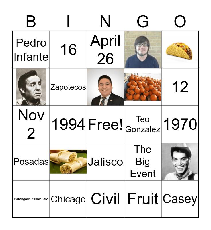 AMAS 2017-2018 Bingo Card
