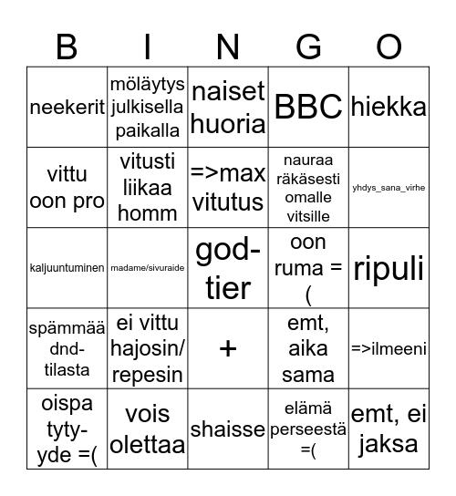 MaanantaiJargon Bingo Card