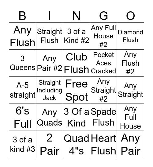 Grave Yard Bingo Card