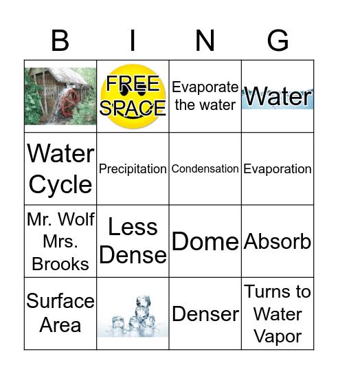 Water BING Bingo Card