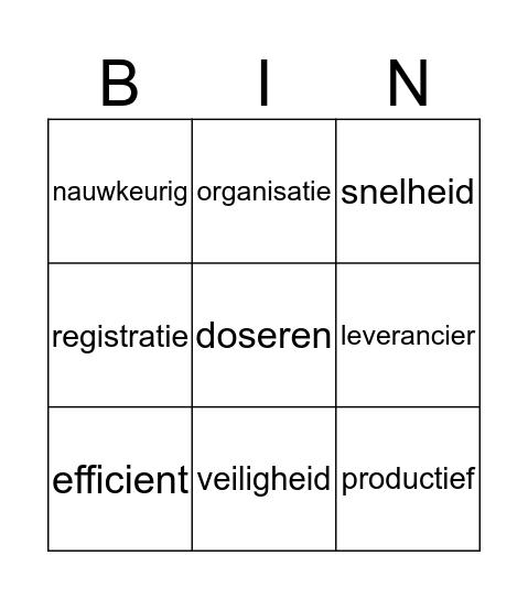 conveniwoorden Bingo Card