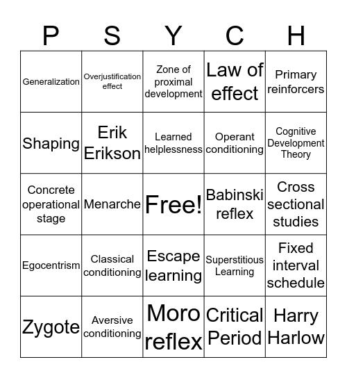 Learning and Development Bingo Card