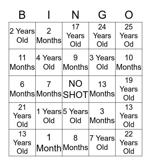 25 Years of TANN Bingo Card