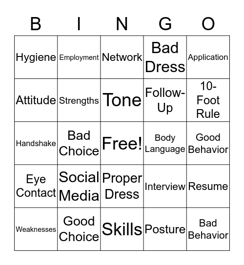 Are You Ready Bingo Card