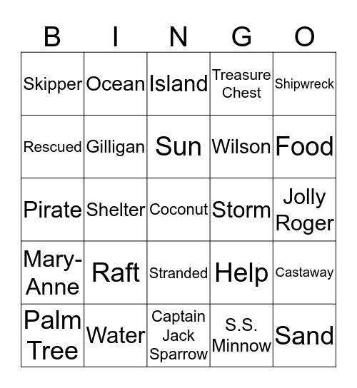 Castaways Bingo Card