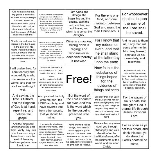 Blue Cycle 2 Bingo Card