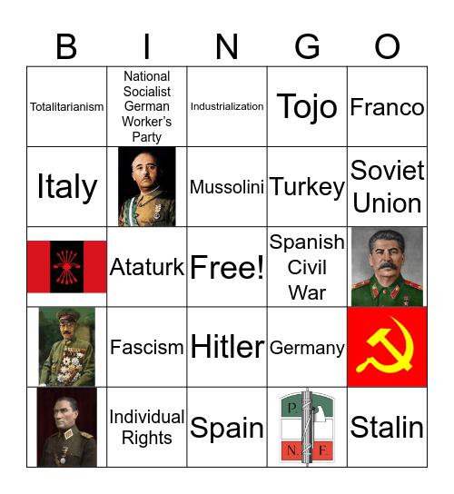 Dictator Bingo Card