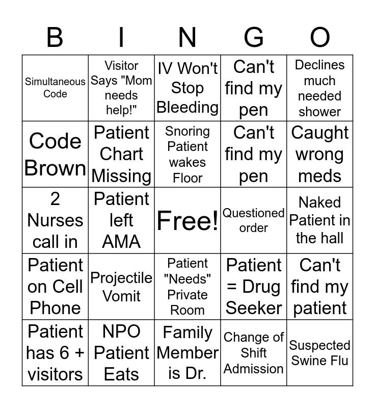 Nurses Week Bingo  Bingo Card