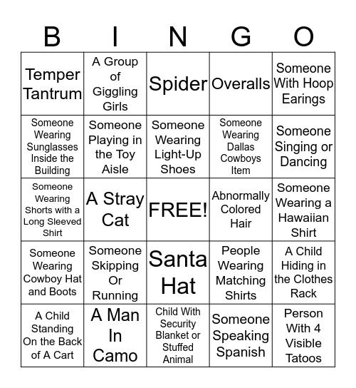 PEOPLE BINGO 2 Bingo Card