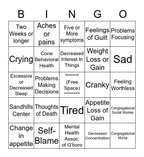 Bingo Blues  Bingo Card