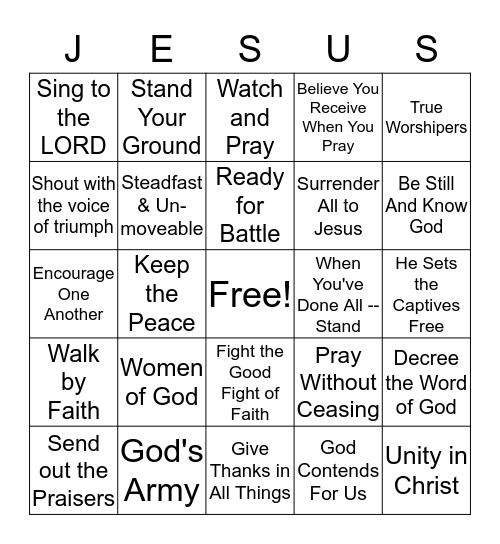 VICTORY IN JESUS Bingo Card