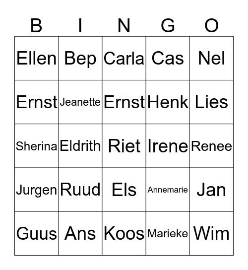 Slotdrive 26  juni 2018 Bingo Card