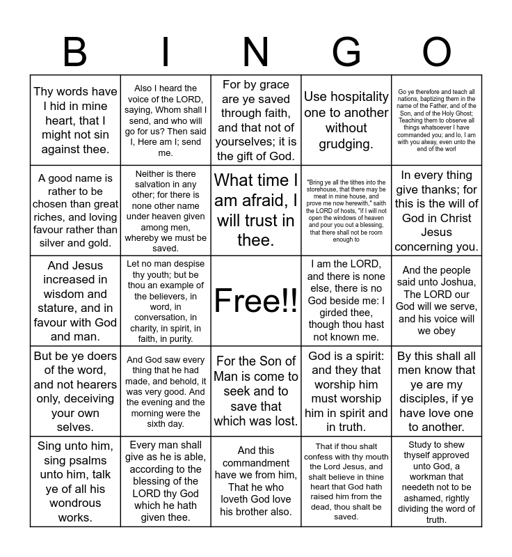 Kids Blue Cycle 2 Bingo Card
