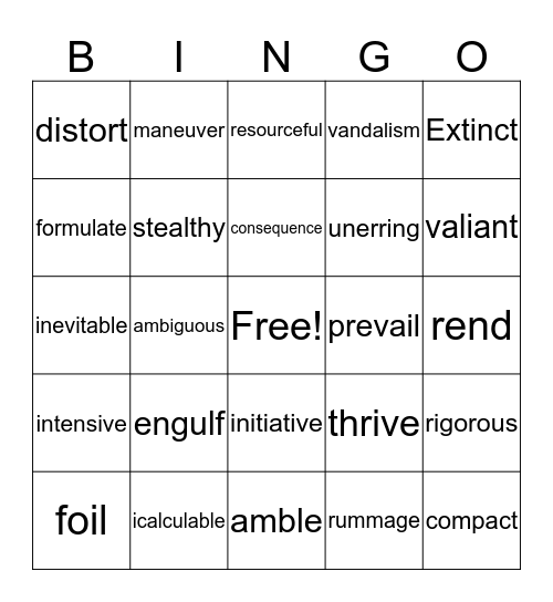 Hello  Bingo Card