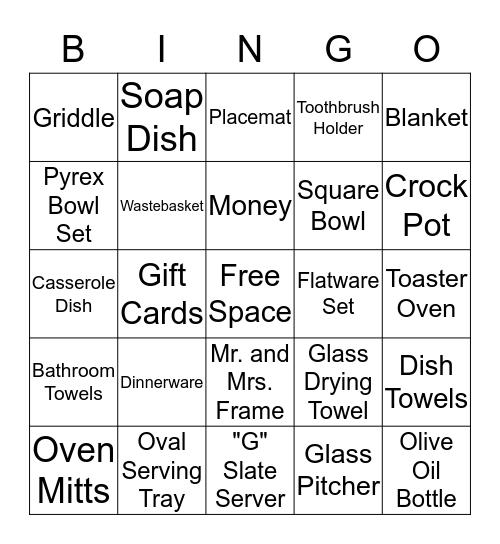 Gift Bingo  Bingo Card