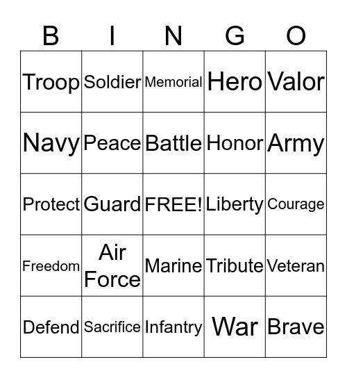 Veteran Bingo Card