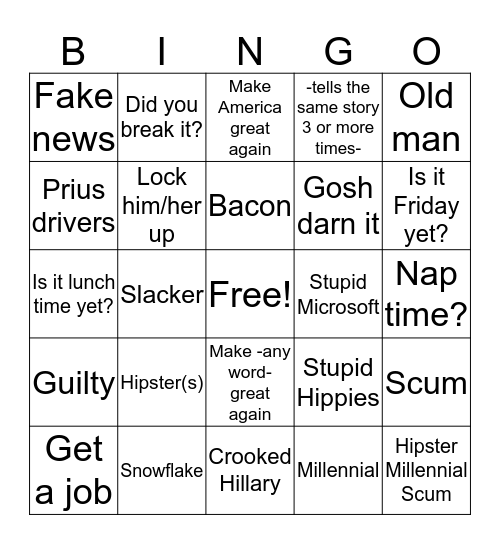 EW Bingo Card