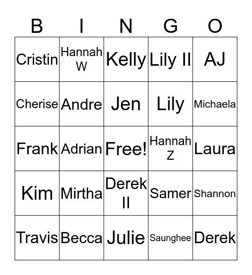 US TA Bingo! Bingo Card