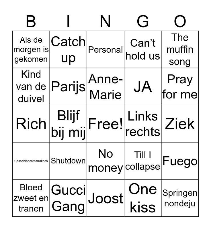 SWINGO Bingo Card