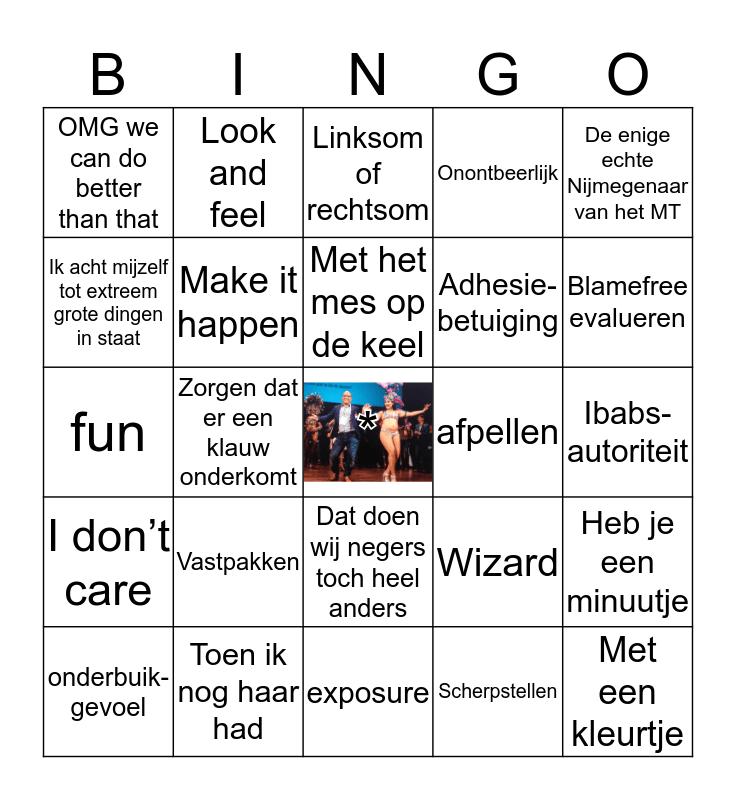 George's Uitspraken Bingo Card