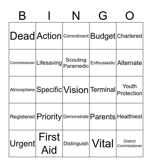 Commissioner Bingo Card
