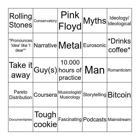 Music Management Bingo Card