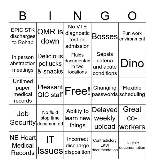 The Good, Bad and Ugly Work BINGO Card
