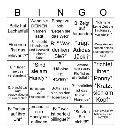 Botta Bingo Card