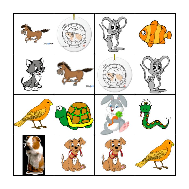 Los animales Bingo Card
