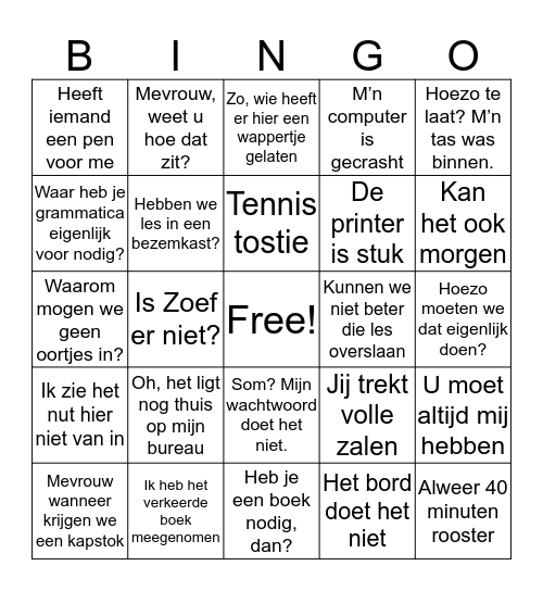 HGL diploma bingo! Bingo Card