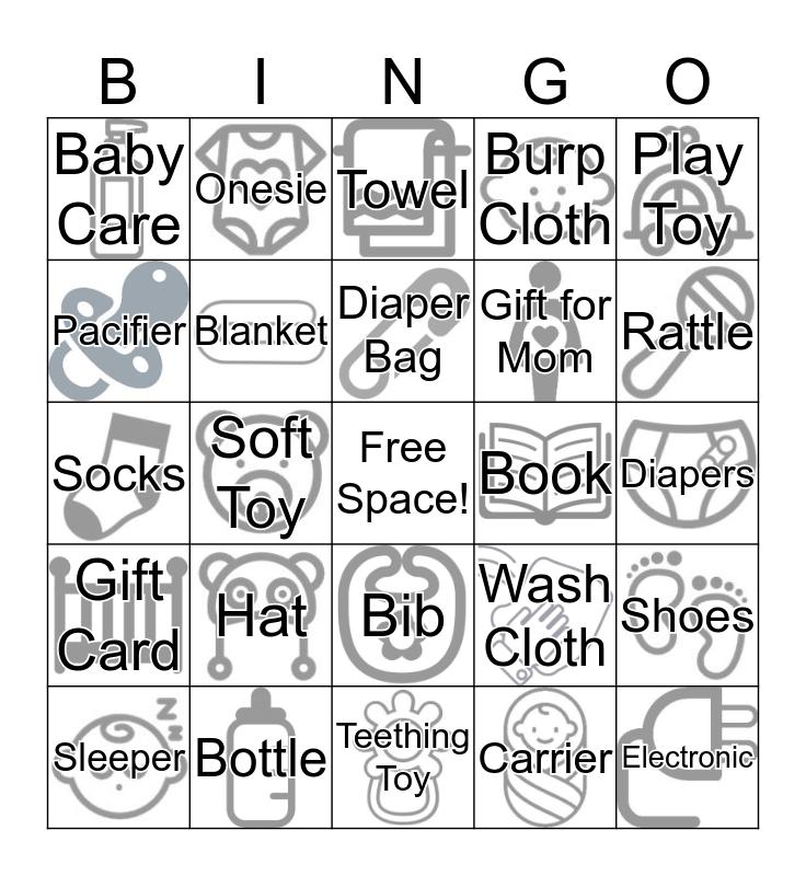 Baby Walker Bingo Card