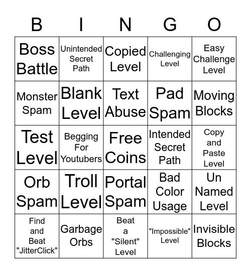 GD Bingo Card #2 Bingo Card