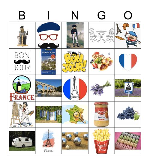 vive la france Bingo Card