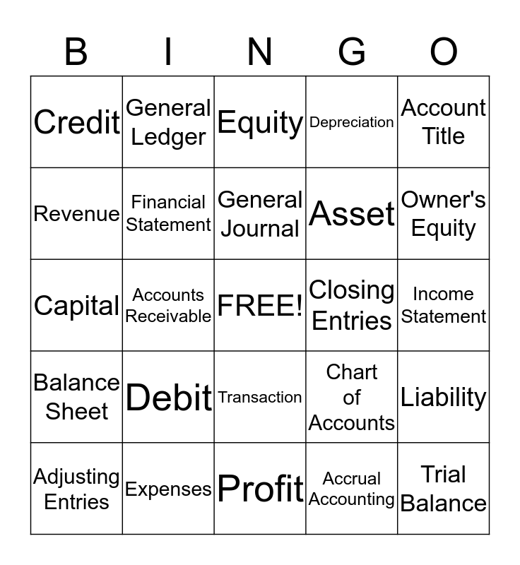 BD Group Bingo Card