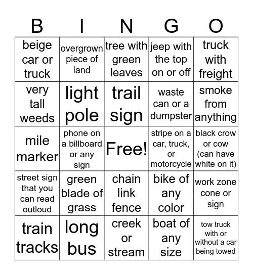 Colorado Bingo Card