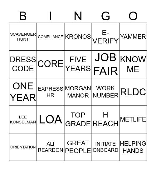 PSM BINGO  Bingo Card