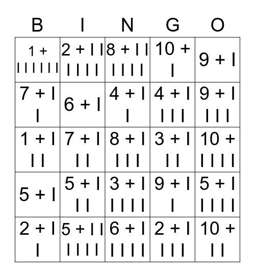 Addiiton Bingo Card