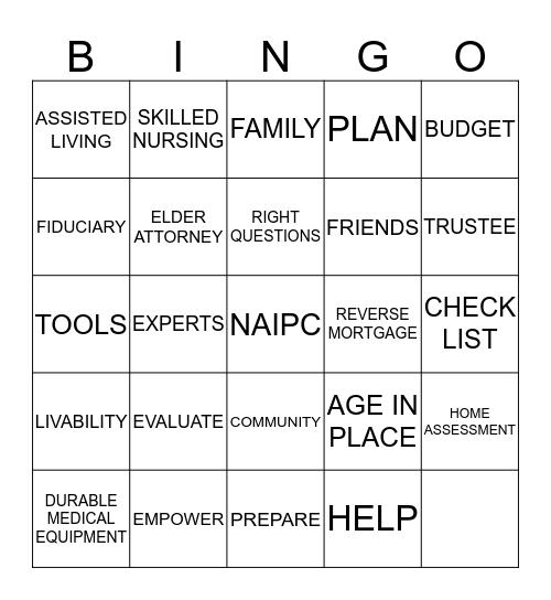 NAIPC -- Tel: 951-878-0708  Bingo Card