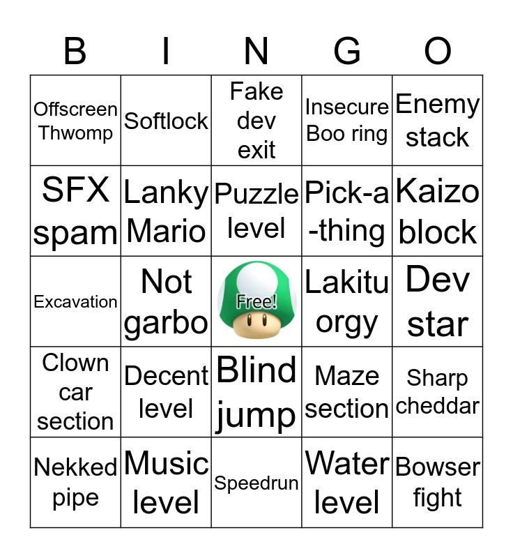 Super Mario Misery Bingo! Bingo Card