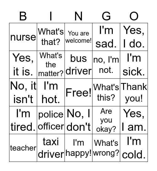 Seed Summer Camp Bingo Card