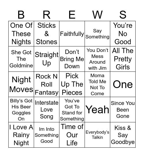 Boondocks Brews, Beats & Bingo 44-2 Bingo Card