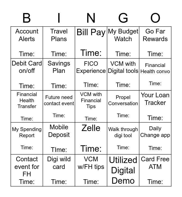 Digital and FH Blackout Bingo Card