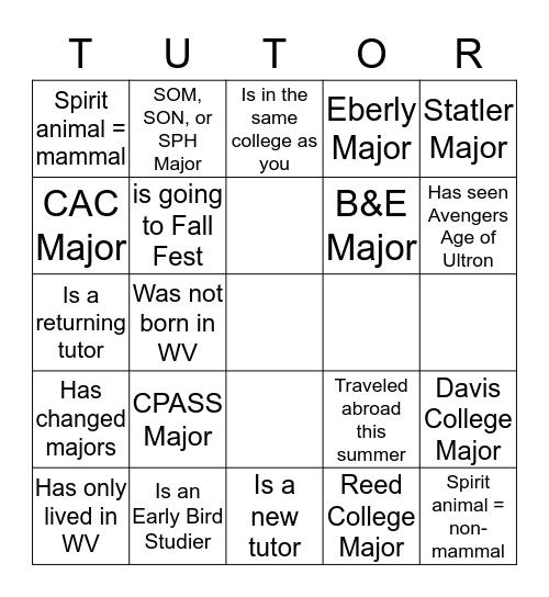 MindFit Bingo Card