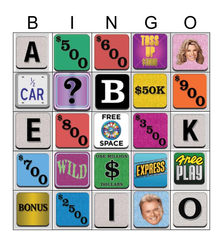 WHEEL Bingo Card