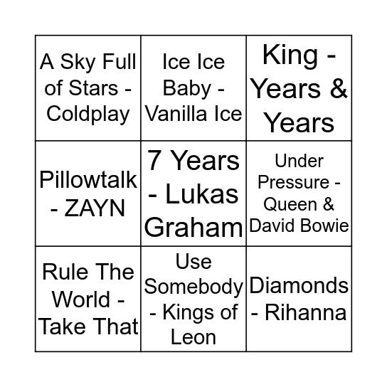 Boogie Bingo Card