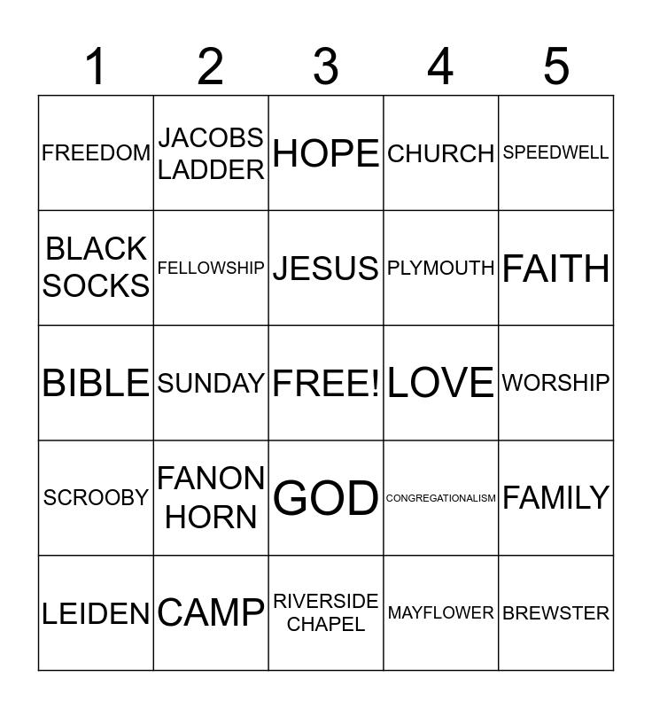 SUNDAY FUN BINGO! Bingo Card
