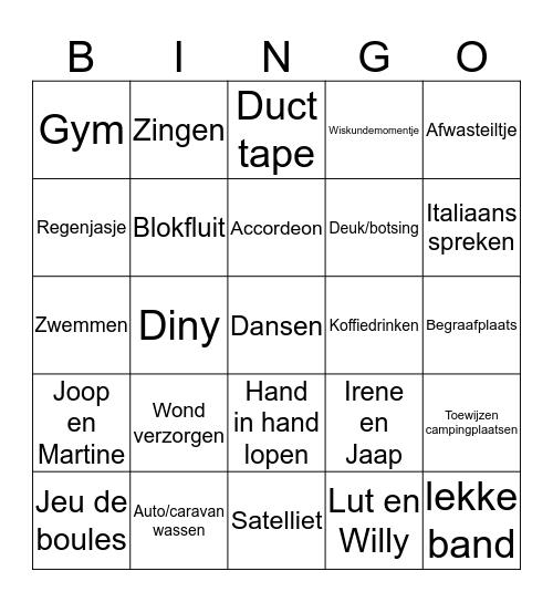 Maarten Bingo Card