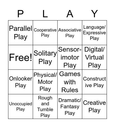 """Play"" BINGO Card"