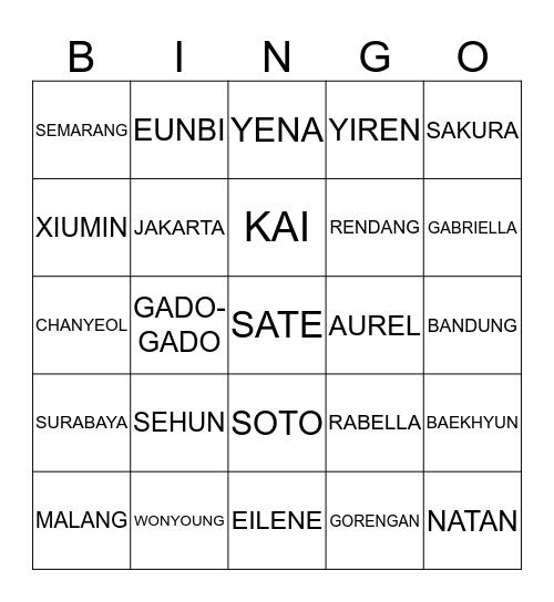BINGONYA INCESS EILENE Bingo Card
