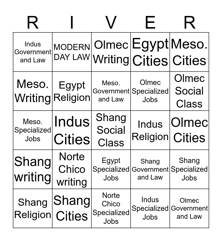 Civilingo Blingo Bingo Card